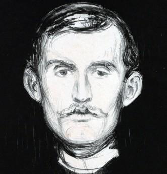 Edvard-Munch_Autoritratto-con-braccio-di-scheletro-1895-dett