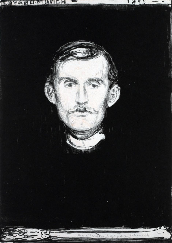 Edvard-Munch_Autoritratto-con-braccio-di-scheletro-1895
