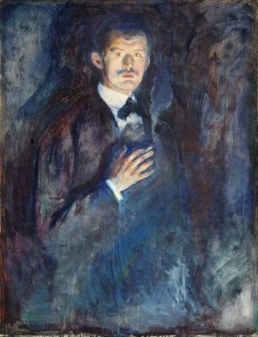 autoritratto Edvard Munch 1895 con sigaretta