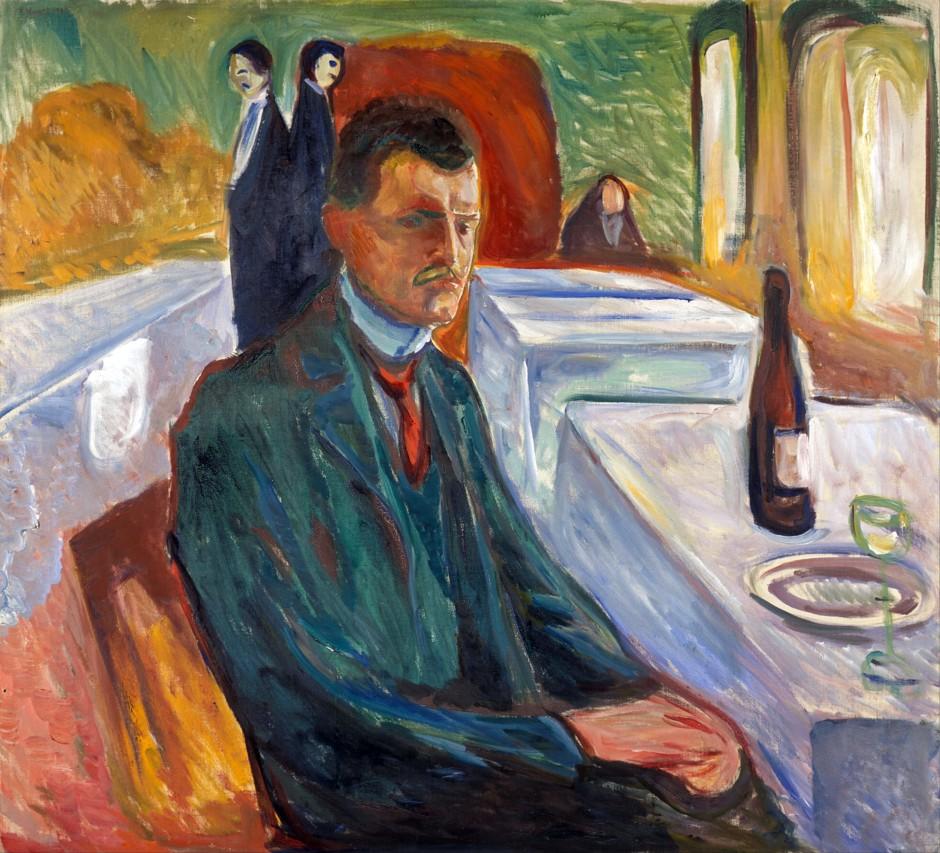 Edvard-Munch_Autoritratto-con-una-bottiglia-di-vino1906