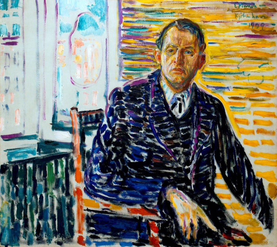 Edvard-Munch_Autoritratto-nella-clinica-1909