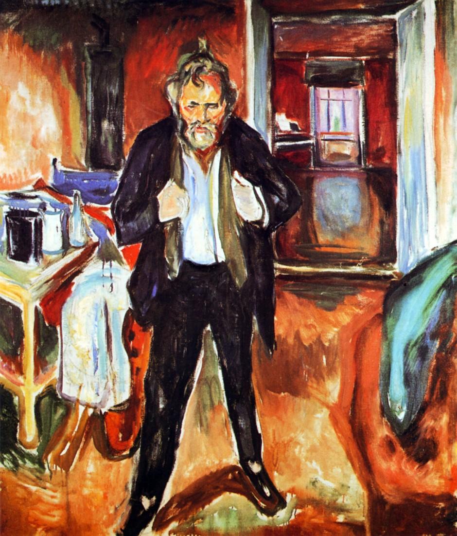 Edvard_Munch-Notte insonne-autoritratto con turbamento interiore_1920
