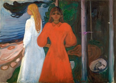 Edvard Munch, Rosso e bianco, 1899
