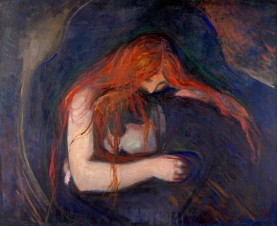 Edvard, Munch, Vampiro, 1895