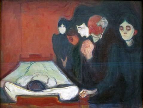 Edvard Munch, Il letto di morte, 1895