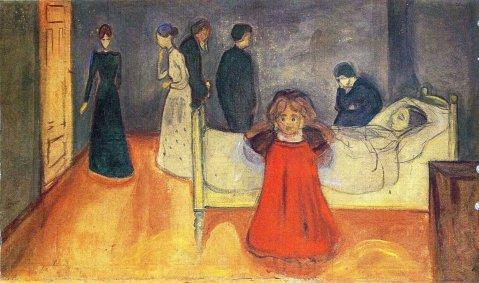 Edvard Munch, La madre morta e la bambina, 1897-99