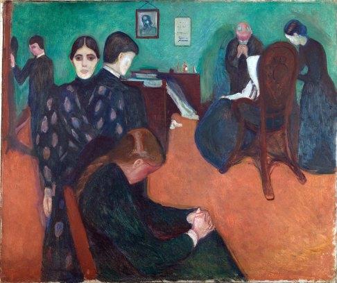 Edvard Munch, Morte nella camera della malata, 1893