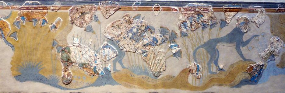 Creta, affresco delle scimmie blu