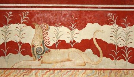 Cnosso, particolare della Sala dei Grifoni