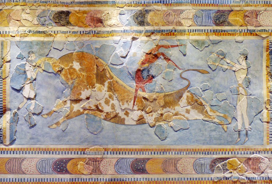 Creta, affresco palazzo di Cnosso