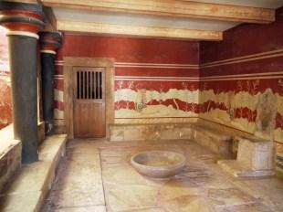 Creta, Palazzo di Cnosso, Sala del Trono
