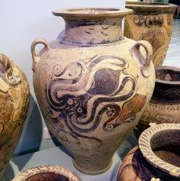 Vaso con affresco di polipo, Museo archeologico di Heraklion