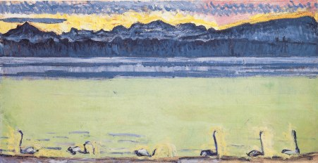 Ferdinand Hodler, Lago di Ginevra con Monte Bianco al mattino_1918