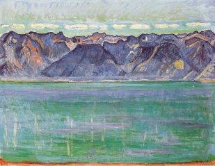 Ferdinand Hodler, Lago di Ginevra con vista sulle montagne della Savoia, 1906