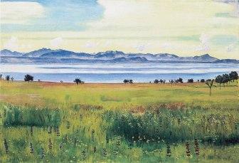 Ferdinand Hodler, Lago di Ginevra da Saint Prex