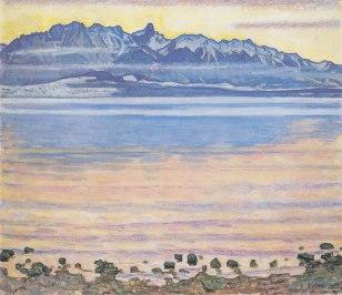 Ferdinand Hodler, Lago Thun con la catena dello Stockhorn, 1904 2