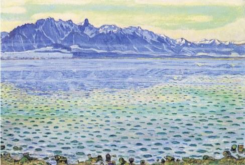 Ferdinand Hodler, Lago Thun con la catena dello Stockhorn, 1904