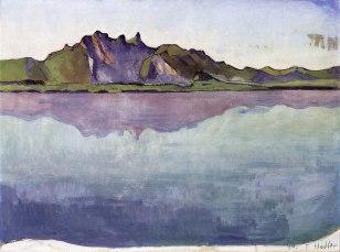 Ferdinand Hodler, Lago Thun con la catena dello Stockhorn, 1910