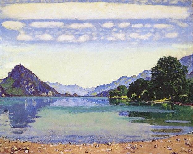 Ferdinando Hodler, Lago di Thun da Lessigen, 1904