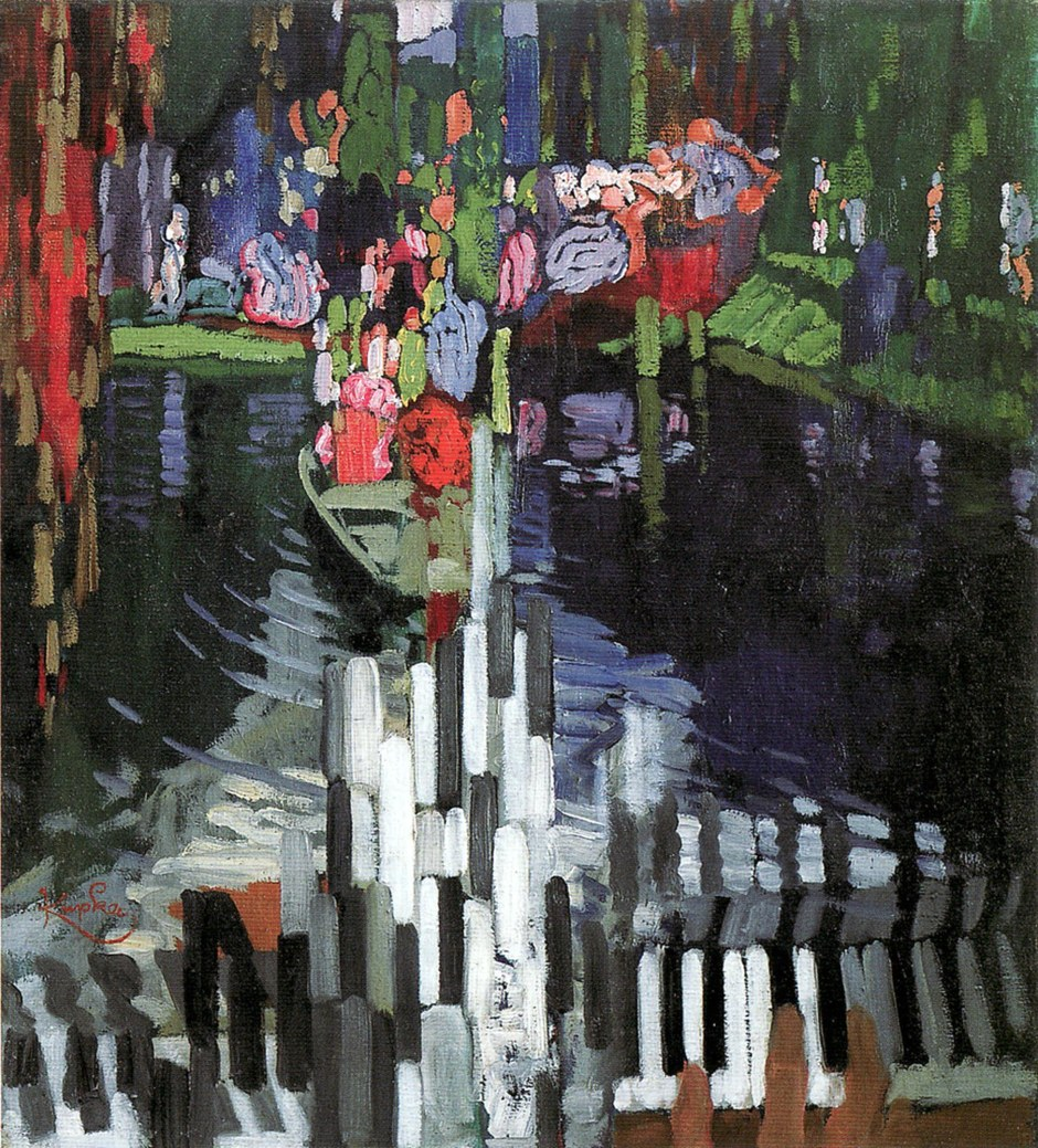 Frantisek Kupka, Tasti di pianoforte/Lago, 1905