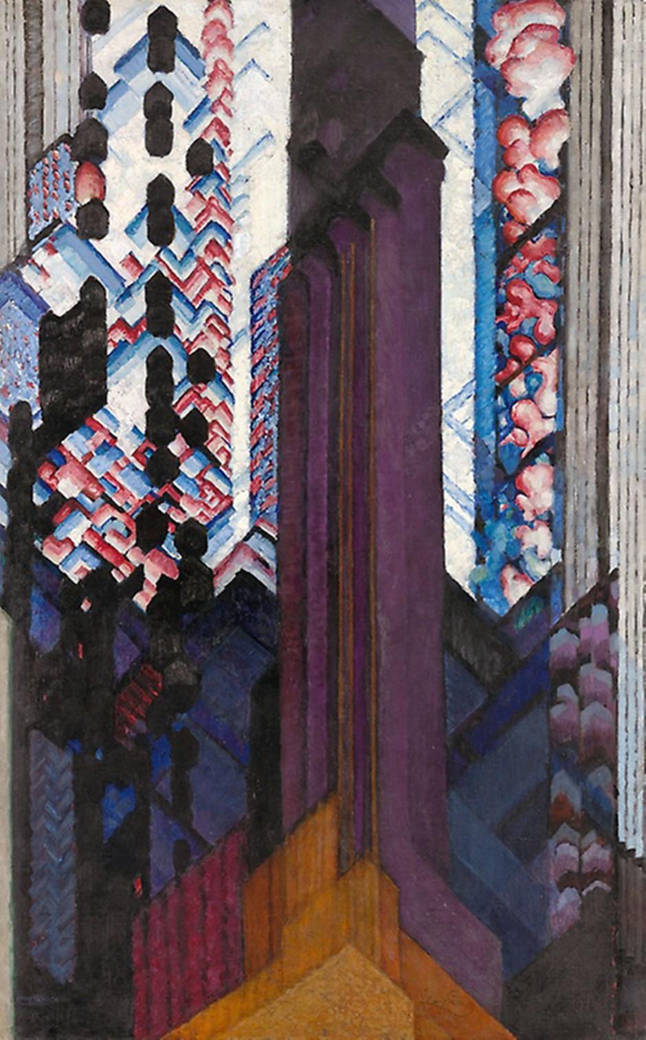 Frantisek Kupka, Reminescenza di una cattedrale, 1920-23
