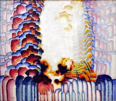 Frantisek Kupka, Scheletro blu II, 1920-21