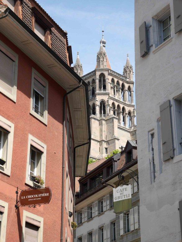 Il campanile della Cattedrale di Losanna