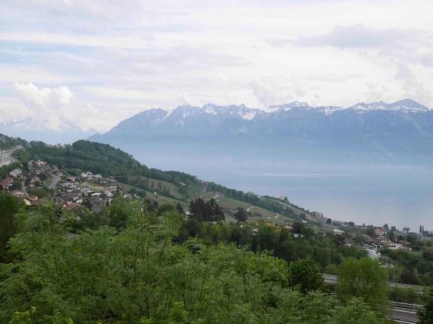 Il lago Lemano dalle vicinanze di Losanna