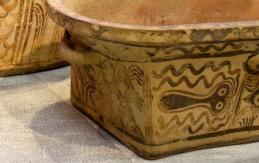 Particolare di un affresco di polipo, Museo archeologico di Heraklion