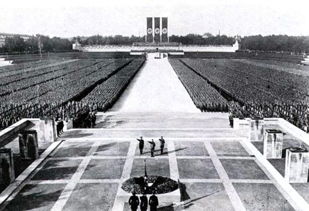 Campo degli zeppelin, raduno del partito nazista, 1934