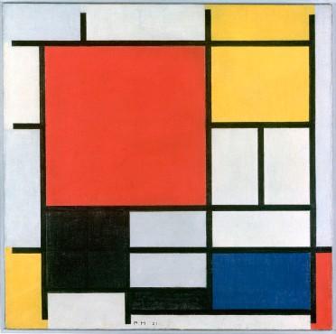 Piet Mondrian, Composizione in rosso, giallo, blu e nero, 1921