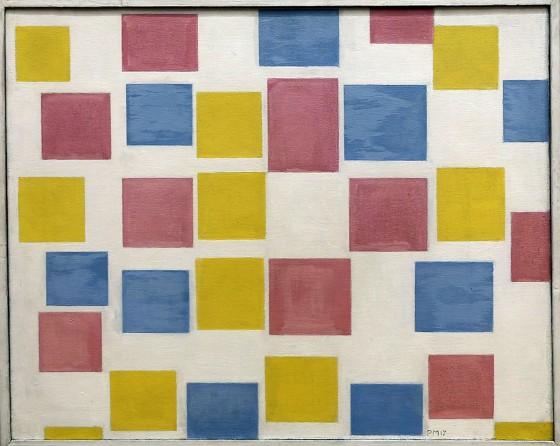 Piet Mondrian, Composizione con campiture colorate, 1917