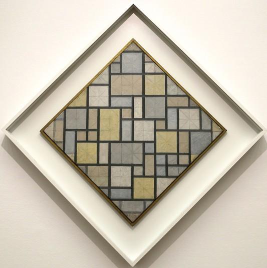Piet Mondrian, Composizione con griglia 5, composizione a losanga con colori, 1919
