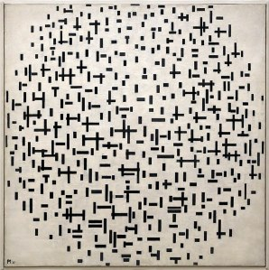 Piet Mondrian, Composizione in linea, 1916-17