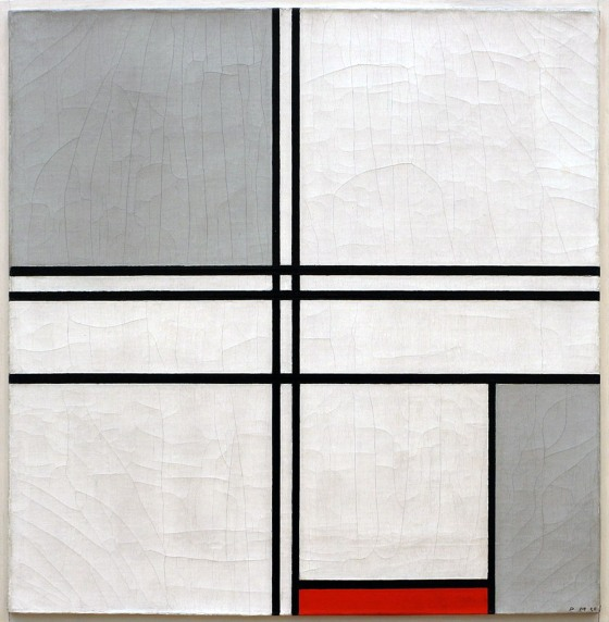 Piet Mondrian, Composizione (n.1), grigio-rosso, 1935