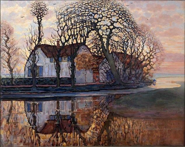 Piet Mondrian, Fattoria vicino Duivendrecht, 1916