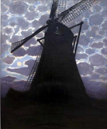 Piet Mondrian, Mulino di sera, 1917
