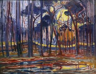 Piet Mondrian, Foresta vicino a Oele, 1908