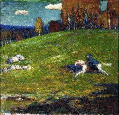 Vassily Kandinsky,Il cavaliere azzurro, 1903