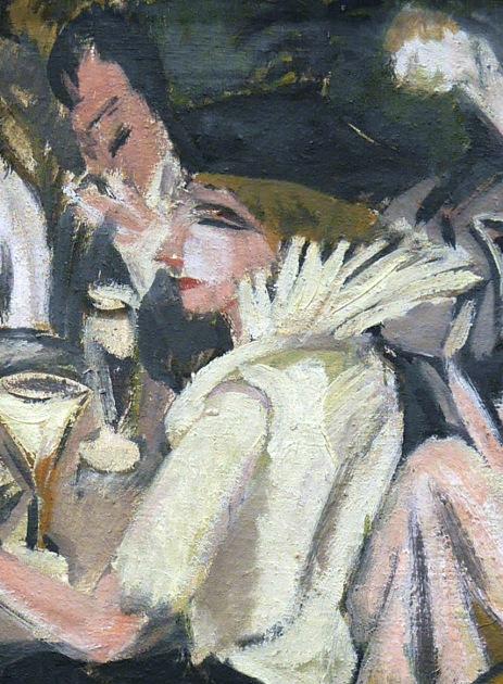 Ernst Ludwig Kirchner, Nel Café Garden, 1914 - particolare