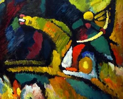 Vassily Kandinsky, Quadro con arciere, 1909 - particolare