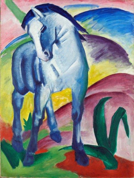 Franz Marc, Cavallo blu, 1911