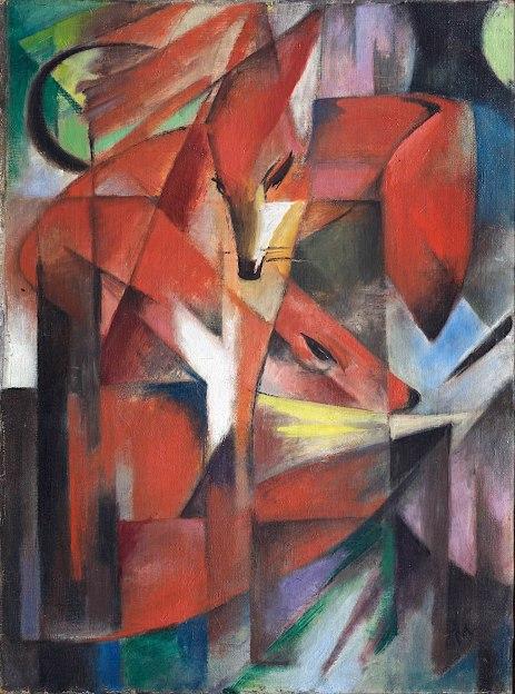 Franz Marc, Le volpi, 1913