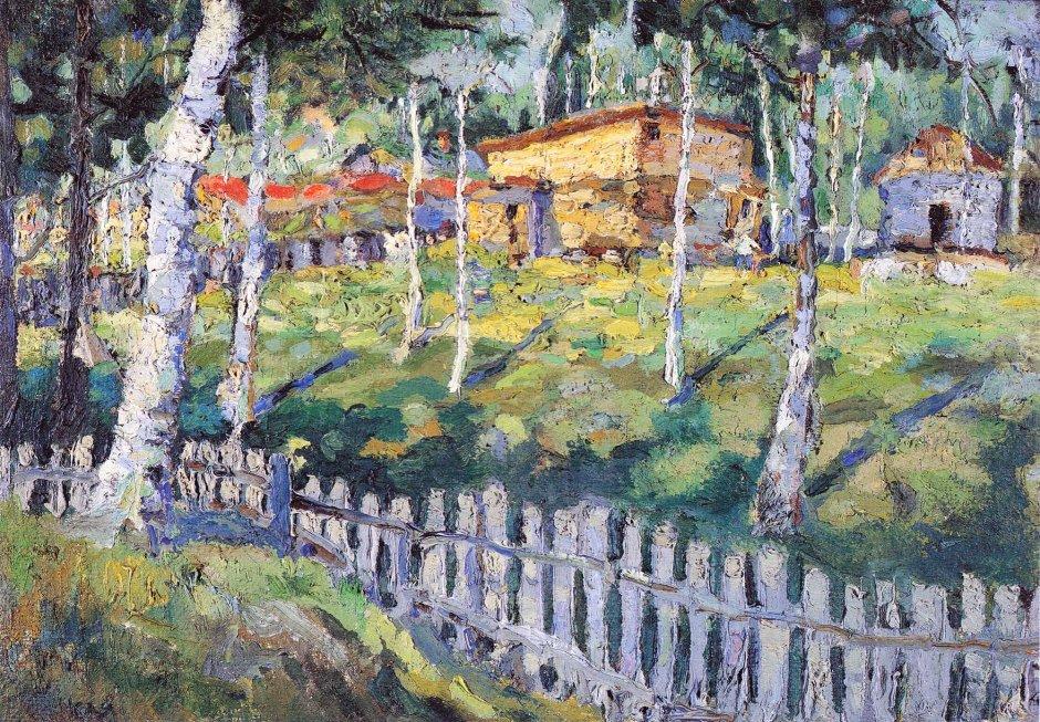 Kazimir Malevic, Bosco di betulle, 1925-30 (su base 1905)