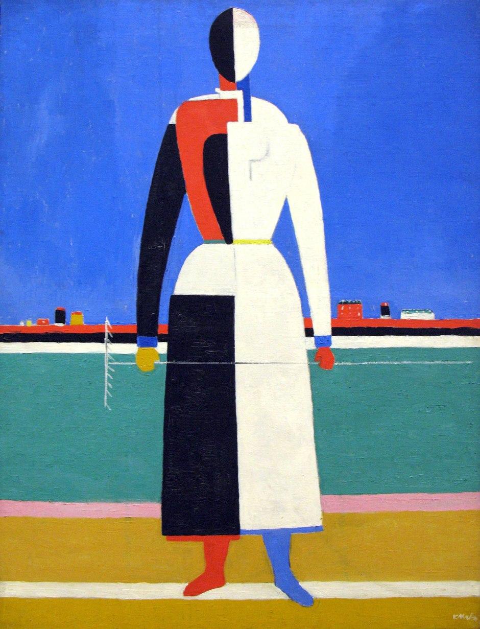 Kazimir Malevic, Donna con un rastrello, 1928-32