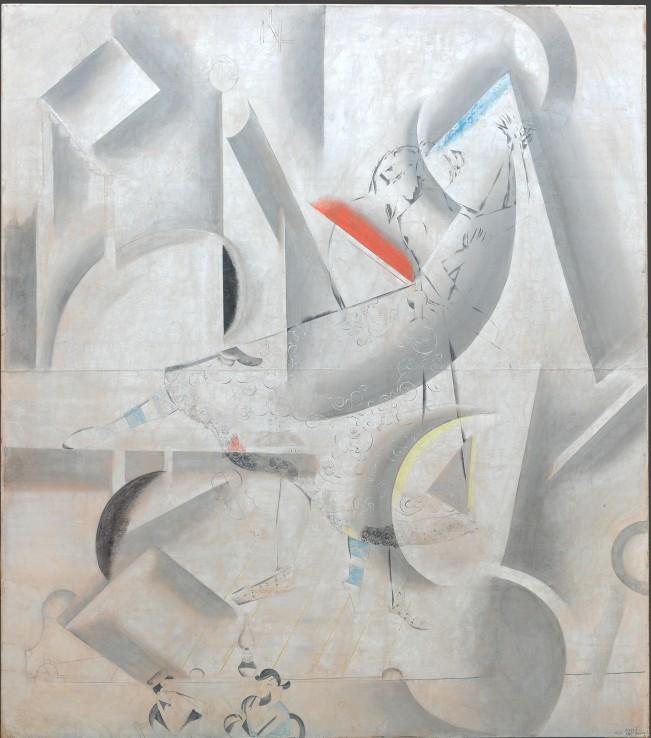 Marc Chagall, Amore sulla scena, 1920 - tempera e caolino su tela, 283 x 248 cm - Galleria di Stato Tretjakov di Mosca. © The State Tretyakov Gallery, Moscow, Russia © Chagall ®, by SIAE 2018