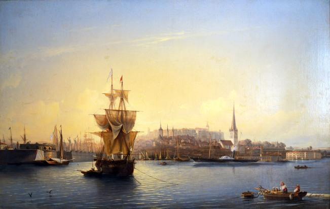 Aleksei Bogoljubov, Porto di Tallinn, mattino, 1853