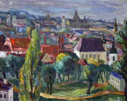 Antanas Gudaitis, Panorama di Vilnius, 1940