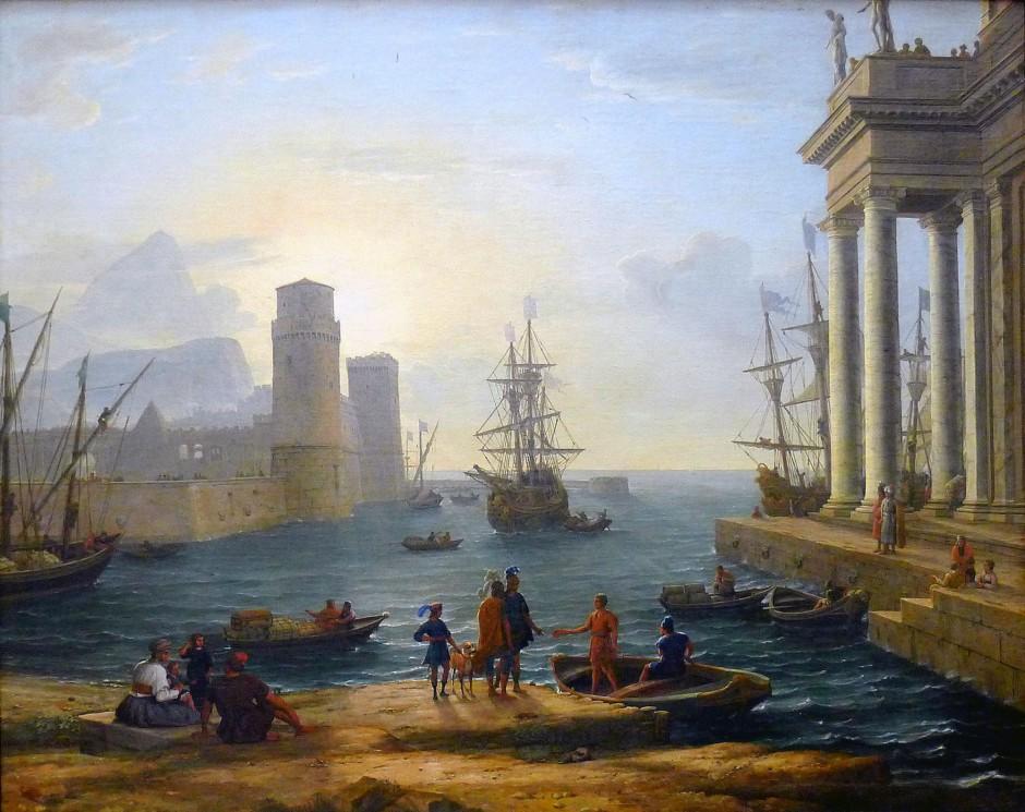 Claude Lorrain, L'imbarco di Ulisse, 1646