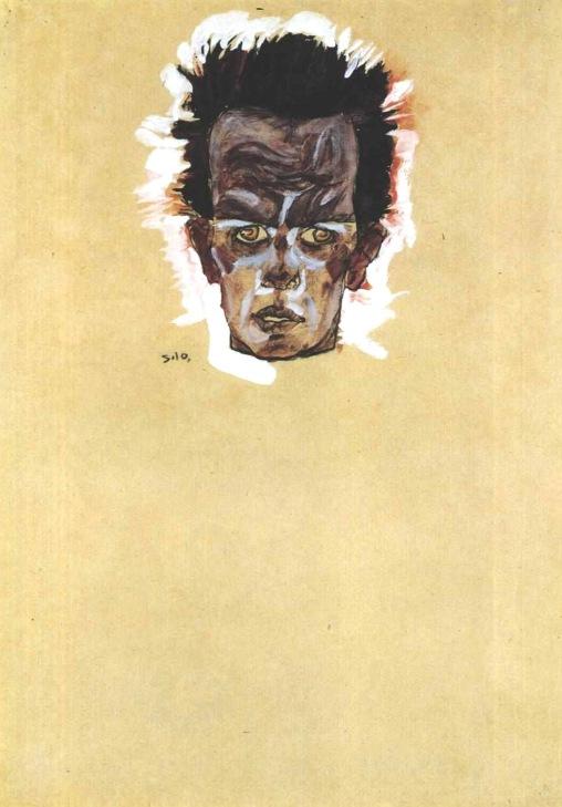 Egon Schiele, Autoritratto, 1910